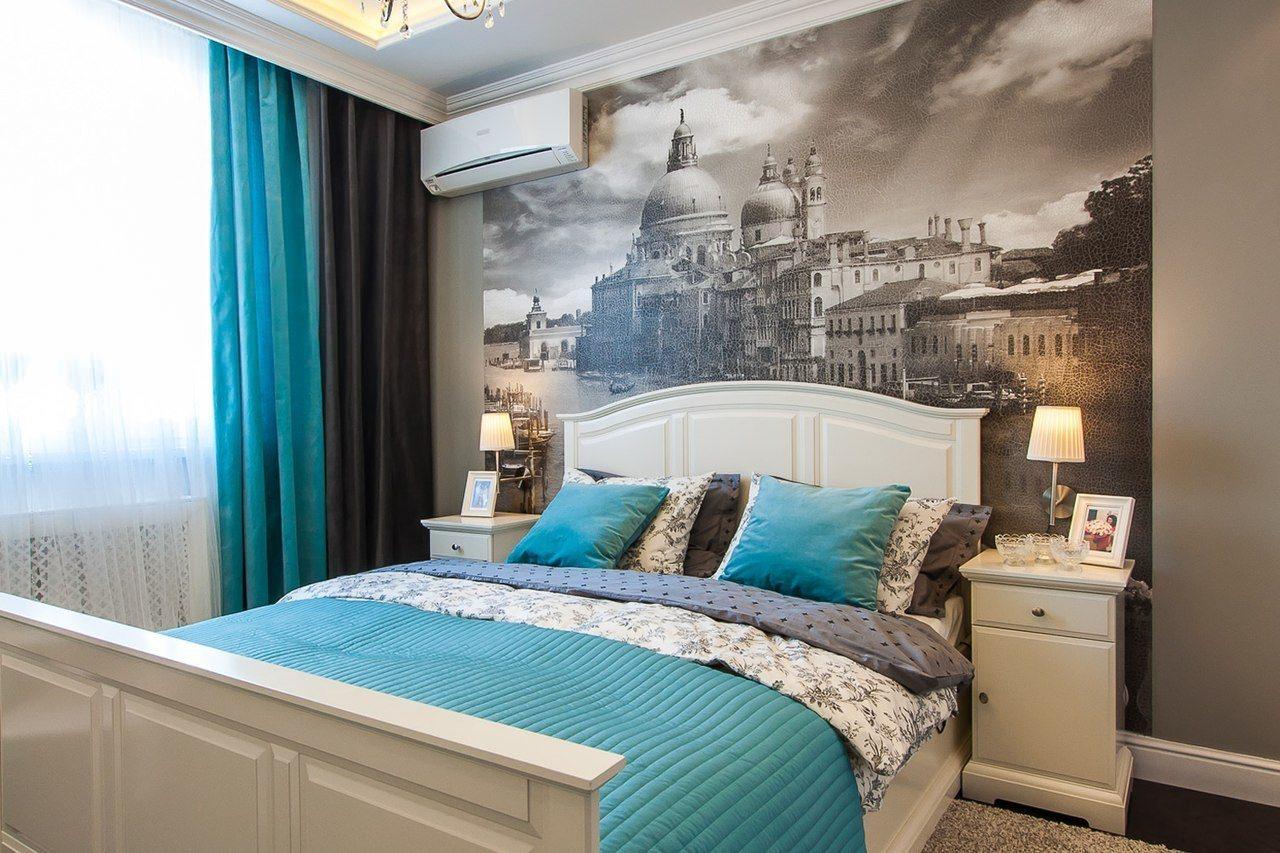 серые обои в спальне идеи дизайн