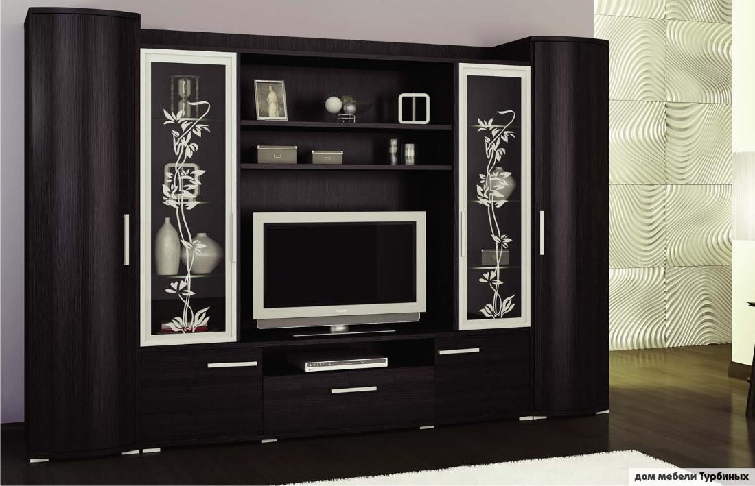шкаф стенка под телевизор в гостиную