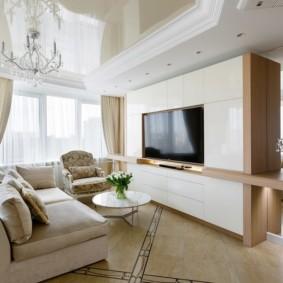 шкаф в гостиную дизайн фото