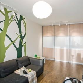 шкаф в гостиную дизайн идеи