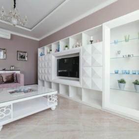 шкаф в гостиную виды декора