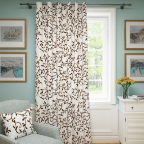 шторы на люверсах дизайн декор