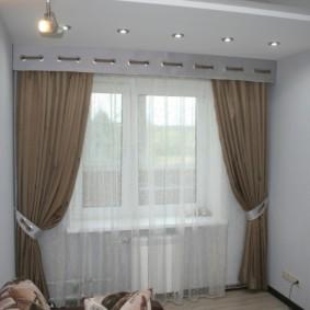 шторы на люверсах в гостиную идеи дизайн