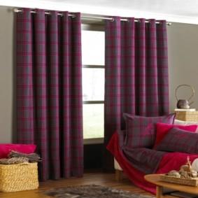 шторы на люверсах в гостиную декор