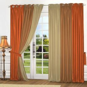 шторы на люверсах в гостиную фото декора