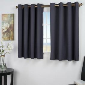 шторы на люверсах в гостиную фото интерьера