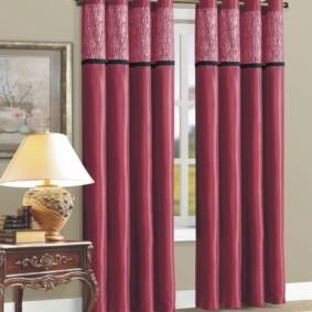 шторы на люверсах в гостиную фото оформления