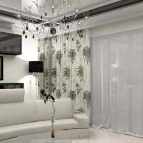 шторы на люверсах в гостиную идеи фото