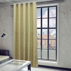 шторы на люверсах в гостиную варианты фото