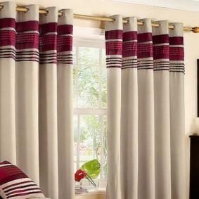 шторы на люверсах в гостиную фото варианты