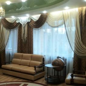 шторы на люверсах в гостиную фото идеи