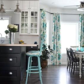 шторы на люверсах в гостиную виды фото
