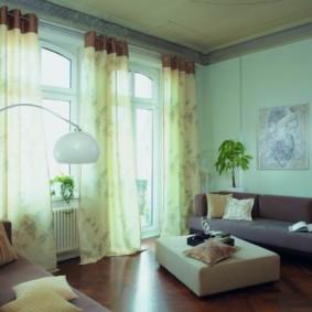 шторы на люверсах в гостиную виды идеи