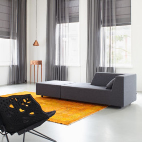 шторы на люверсах в гостиную виды дизайна