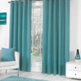 шторы на люверсах в гостиную дизайн
