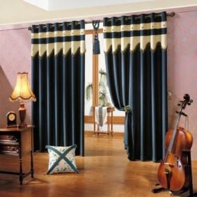 шторы на люверсах в гостиную фото дизайн
