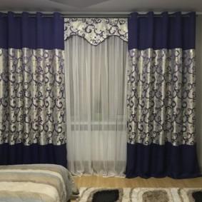 шторы на люверсах в гостиную фото дизайна