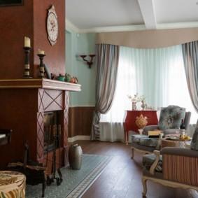 шторы в гостиную декор идеи