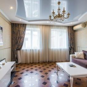 шторы в гостиную фото оформления