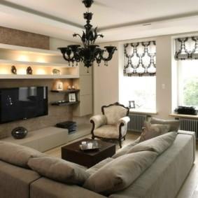 шторы в гостиную фото виды