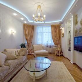шторы в гостиную оформление