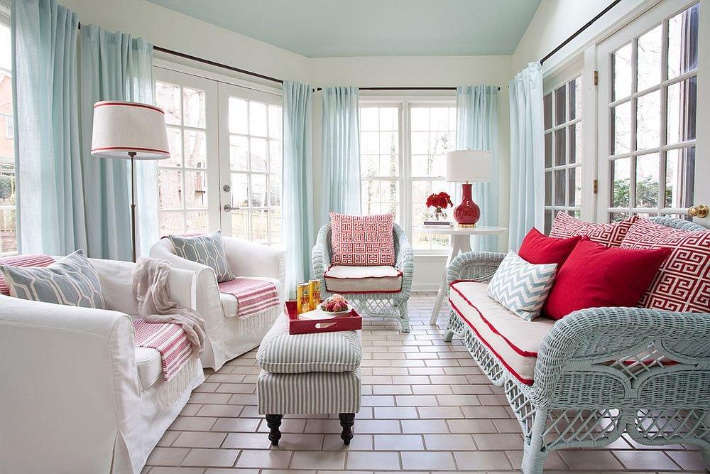 шторы в гостиную скандинавский стиль
