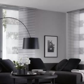 шторы в зал на два окна декор идеи