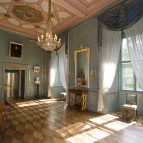 шторы в зал на два окна варианты фото
