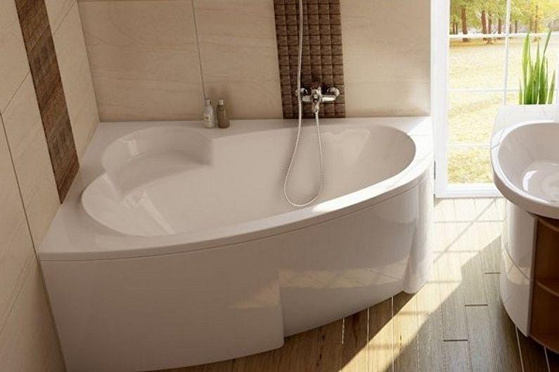 Угловая чугунная ванна с выступом для сидения