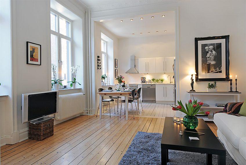 Квартира площадью 50 кв м в скандинавском стиле