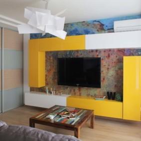 современные фотообои в квартире фото декора