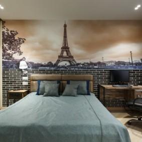 современные фотообои в квартире декор идеи