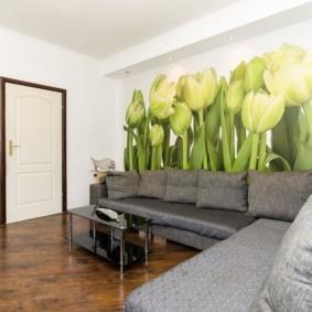 современные фотообои в квартире интерьер