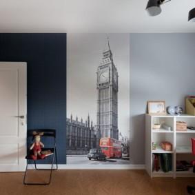 современные фотообои в квартире фото интерьер