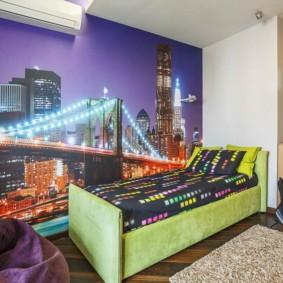 современные фотообои в квартире идеи оформление