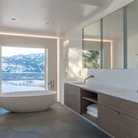ванная современный минимализм