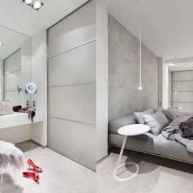 современный минимализм в квартире студии