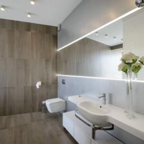 современный минимализм в ванной