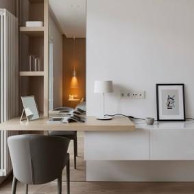 кабинет современный минимализм