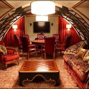 интерьер комнаты в восточном стиле декор