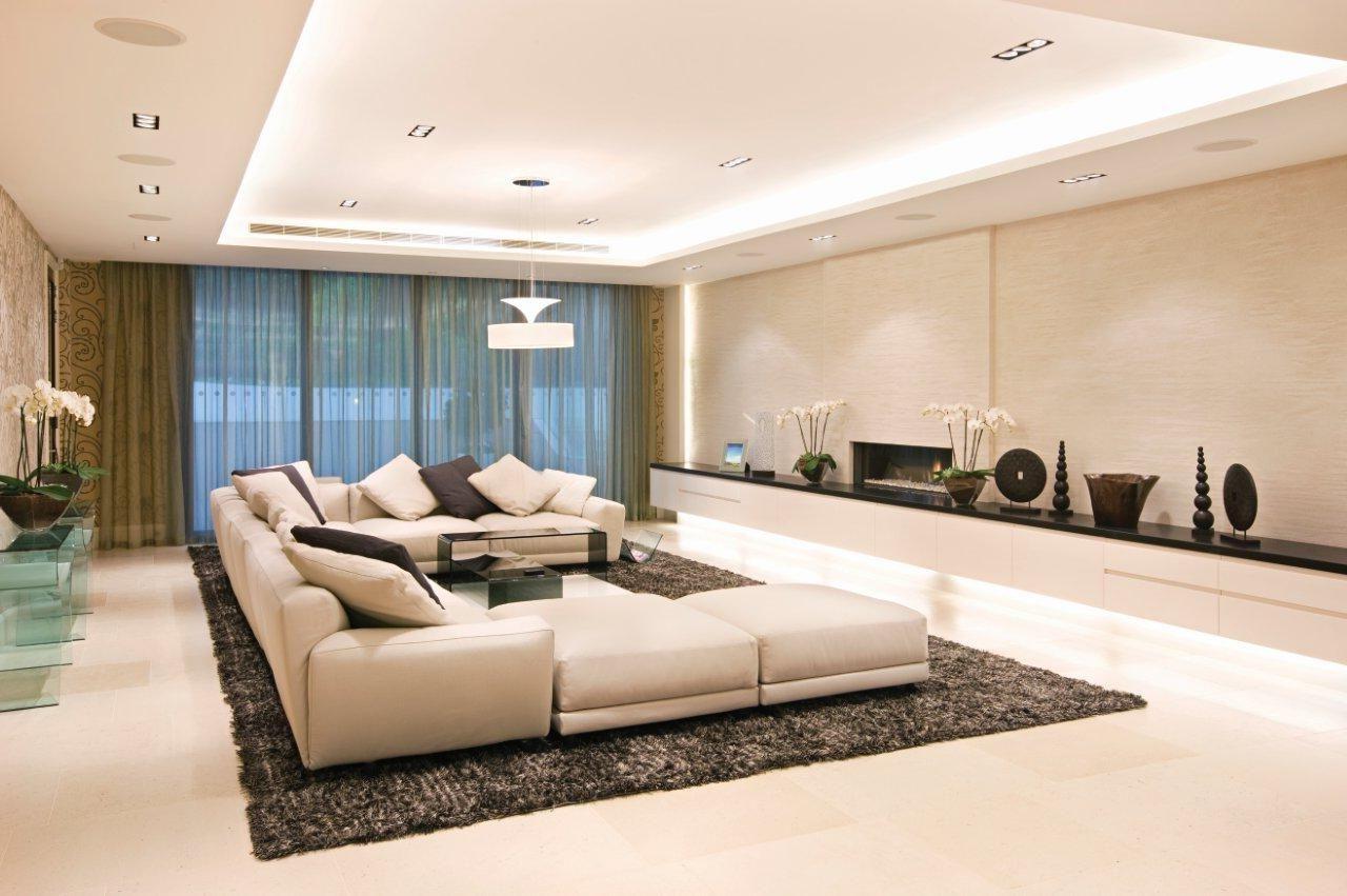 современный стиль гостиной комнаты фото