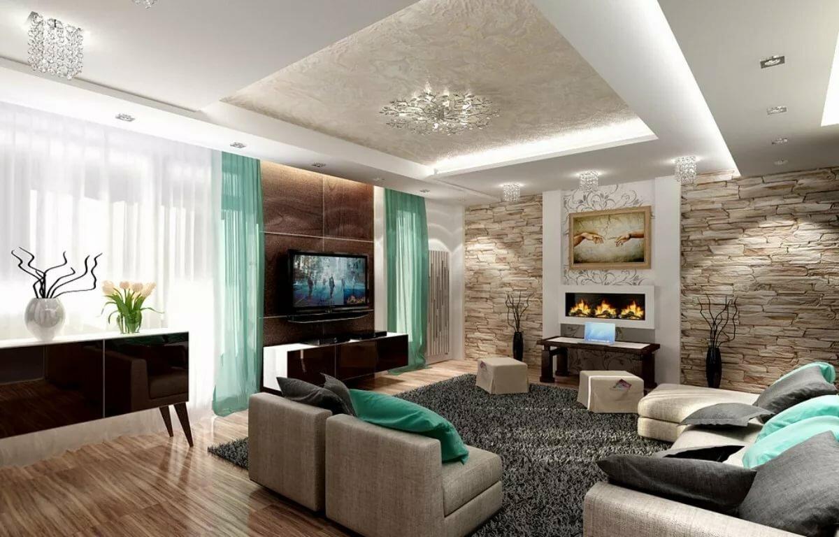 современный стиль в гостиной идеи