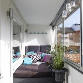 спальная комната с диваном идеи дизайн