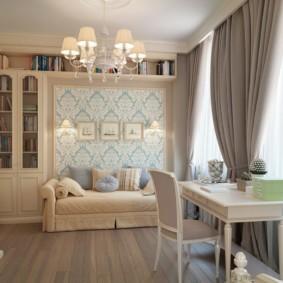 спальная комната с диваном декор идеи