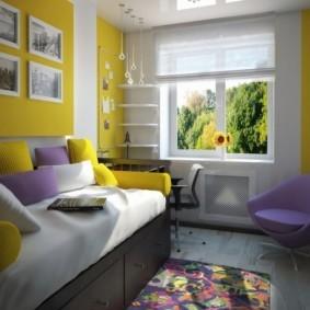 спальная комната с диваном фото интерьер