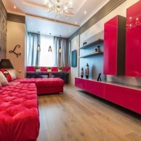спальная комната с диваном фото интерьера