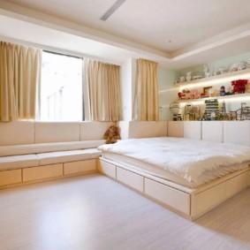 спальная комната с диваном идеи интерьер