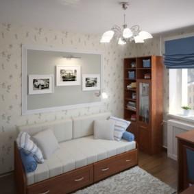 спальная комната с диваном идеи интерьера