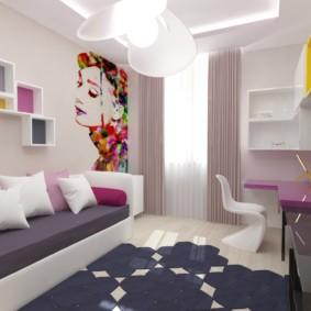 спальная комната с диваном оформление фото