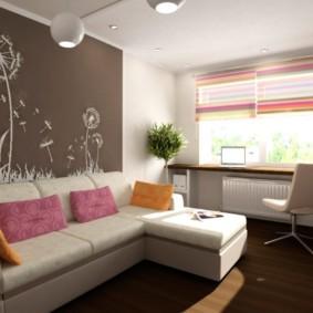 спальная комната с диваном фото оформление